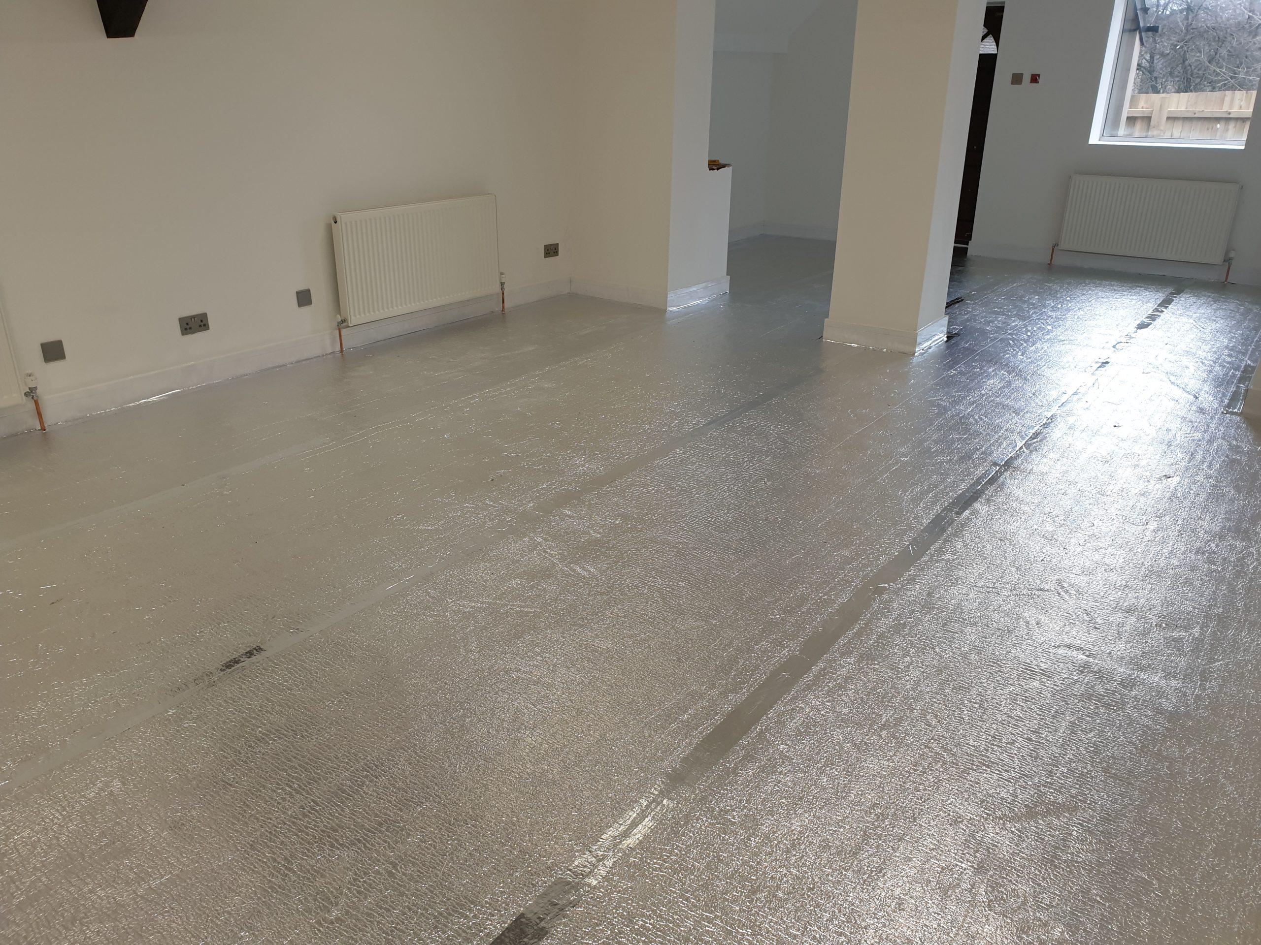 showing EcoTek Floor Foam installed